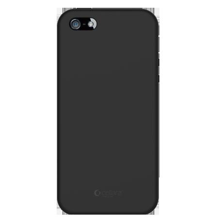 Capac Protectie Spate Cellara Din Silicon Colectia Soft Pentru iPhone 5/5S/5SE - Negru