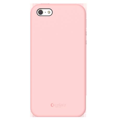 Capac Protectie Spate Cellara Din Silicon Colectia Soft Pentru iPhone 5/5S/5SE - Roz