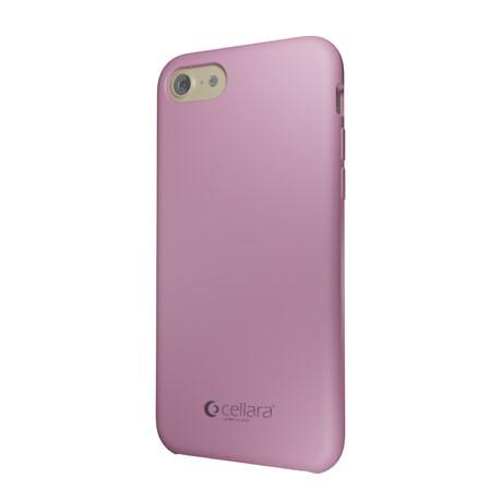 Capac Protectie Spate Cellara Din Silicon Colectia Soft Pentru iPhone 7 - Roz