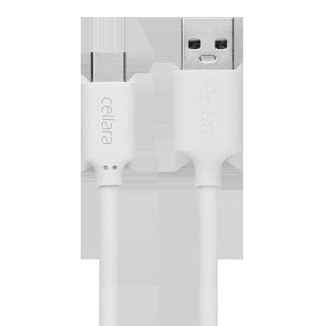 Cablu De Date Cellara Type C - Alb