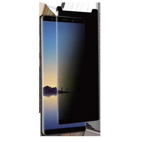Folie Protectie Ecran Sticla 3D Privacy Full Cover Cellara Pentru Samsung Galaxy Note 8 - Negru