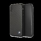 Capac Protectie Spate Bmw Carbon Fibre Pentru iPhone X - Negru