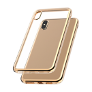 Capac Protectie Spate Cellara Colectia Electro Pentru iPhone Xs Max - Auriu