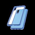 Capac Protectie Spate Cellara Colectia Electro Pentru Huawei P20 - Albastru