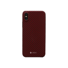 Capac Protectie Spate Cellara Din Fibra De Aramid Pentru iPhone Xs Max - Rosu