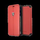 Book Ferrari Din Piele Pentru iPhone Xs/iPhone X Colectia Heritage - Rosu