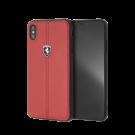 Capac Protectie Spate Ferrari Pentru iPhone Xs Max Colectia Heritage - Rosu