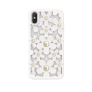 Capac Protectie Spate Switcheasy Pentru iPhone Xs/iPhone X Colectia Flori 3D - Alb