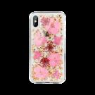 Capac Protectie Spate Switcheasy Pentru iPhone Xs/iPhone X Colectia Flash 3D Cu Flori Naturale - Transparent