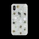 Capac Protectie Spate Switcheasy Pentru iPhone Xs/iPhone X Colectia Flash 3D Cu Scoici Naturale - Transparent
