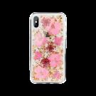 Capac Protectie Spate Switcheasy Pentru iPhone Xs Max Colectia Flash 3D Cu Flori Naturale - Transparent