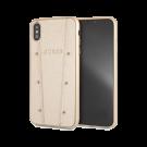 Capac Protectie Spate Guess Pentru iPhone Xs Max Colectia Hearts Glitter - Auriu