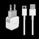 Incarcator Retea Cellara 2.4A Cu Cablu Detasabil Type C - Alb