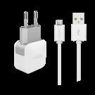 Incarcator Retea Cellara 2.4A Cu Cablu Detasabil Micro Usb - Alb