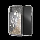 Capac Protectie Spate Karl Lagerfeld Pentru iPhone Xr Colectia Glitter - Auriu