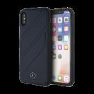 Capac Protectie Spate Mercedes Din Piele Pentru iPhone Xs/iPhone X Colectia New Organic I - Albastru