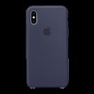 Capac Protectie Spate Apple Din Silicon Pentru iPhone Xs - Albastru