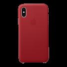 Capac Protectie Spate Apple Din Piele Pentru iPhone Xs - Rosu