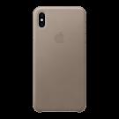 Capac Protectie Spate Apple Din Piele Pentru iPhone Xs Max - Gri