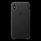 Capac Protectie Spate Apple Din Piele Pentru iPhone Xs Max - Negru