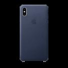 Capac Protectie Spate Apple Din Piele Pentru iPhone Xs Max - Albastru
