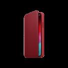 Book Apple Din Piele Pentru iPhone Xs - Rosu