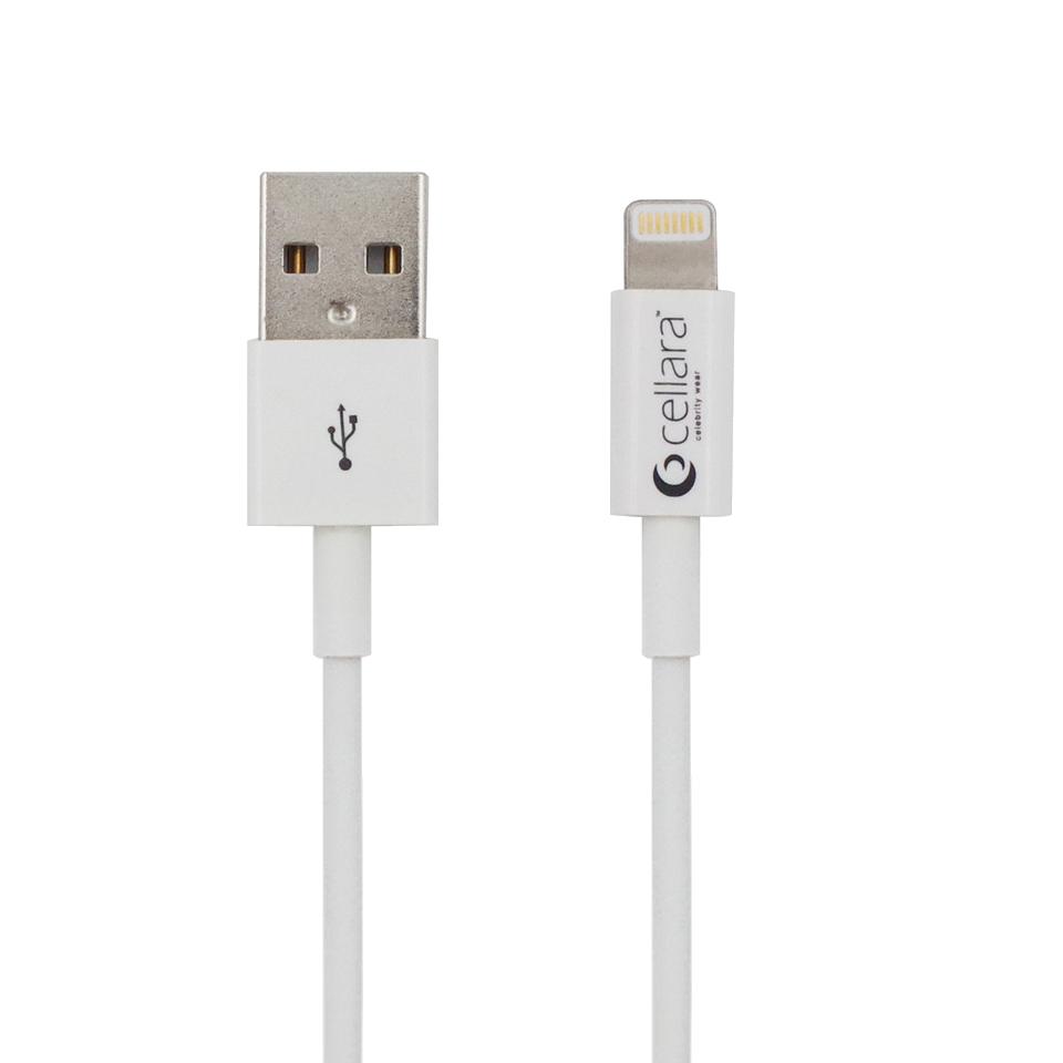 Cablu De Date Cellara Cu Lightning Connector - Alb