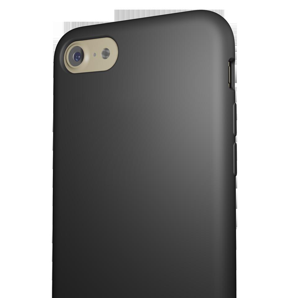 Capac Protectie Spate Cellara Din Silicon Colectia Soft Pentru iPhone 7 - Negru