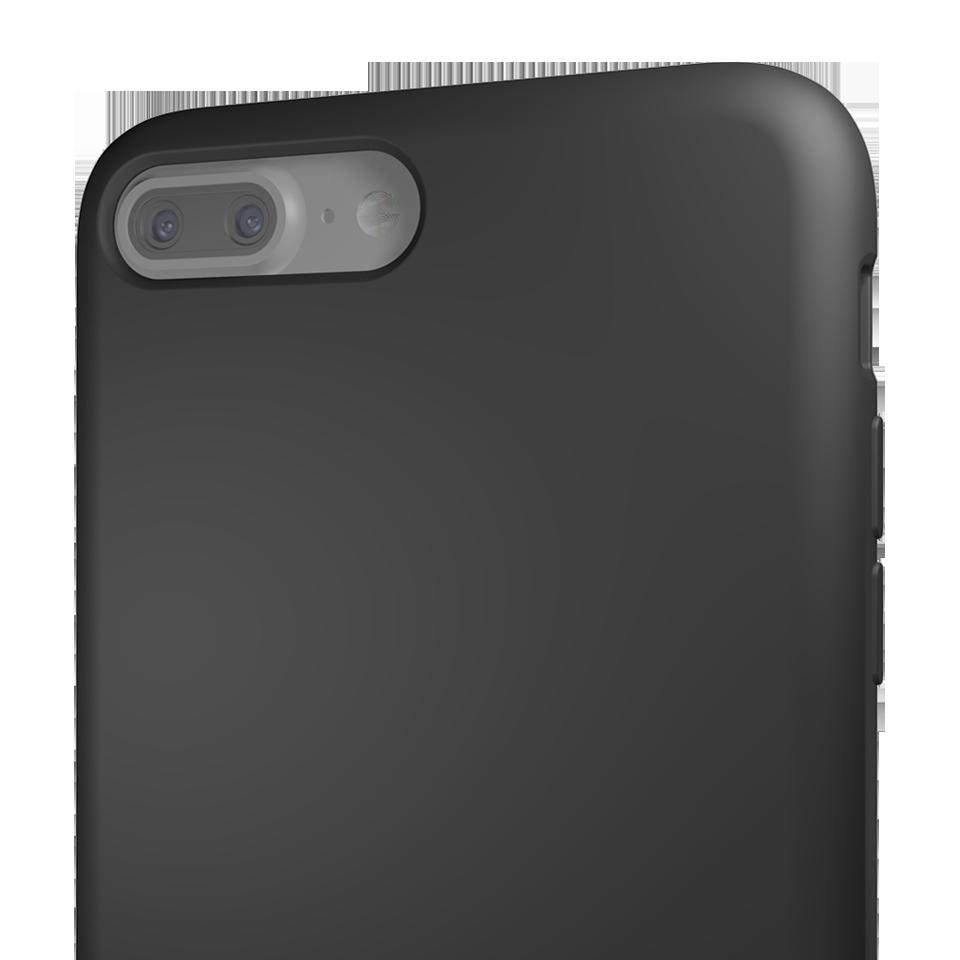 Capac Protectie Spate Cellara Din Silicon Colectia Soft Pentru iPhone 7 Plus - Negru