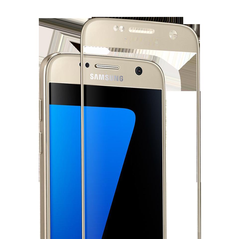 Folie Protectie Ecran Sticla 3D Cellara Pentru Samsung Galaxy S7 - Auriu