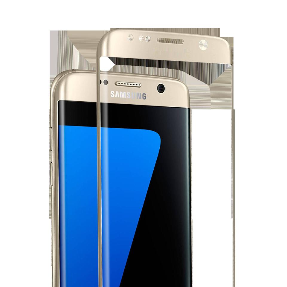 Folie Protectie Ecran Sticla 3D Cellara Pentru Samsung Galaxy S7 Edge - Auriu