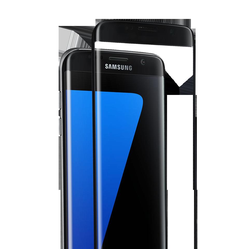 Folie Protectie Ecran Sticla 3D Cellara Pentru Samsung Galaxy S7 Edge - Negru