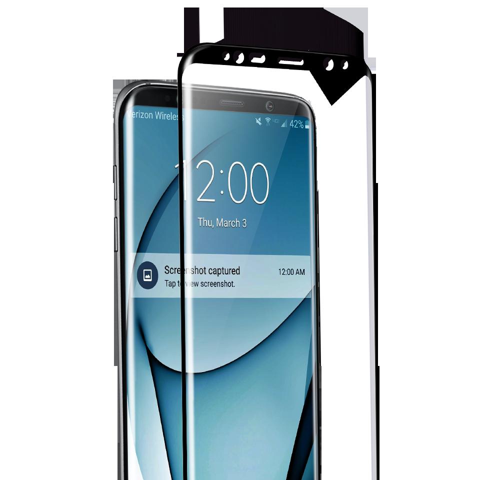 Folie Protectie Ecran Sticla 3D Full Cover Cellara Pentru Samsung Galaxy S8 - Negru