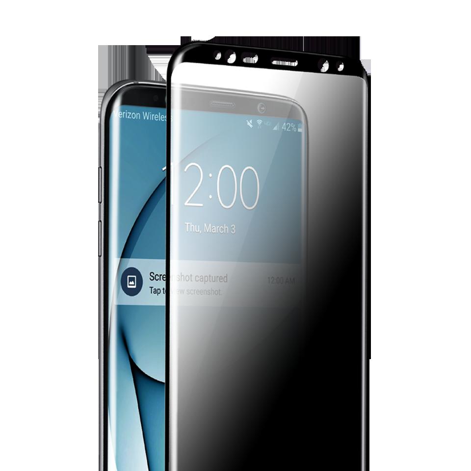 Folie Protectie Ecran Sticla 3D Privacy Cellara Pentru Samsung Galaxy S8 - Negru
